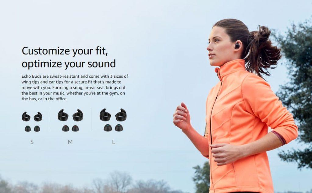 три варианта Amazon Echo Buds