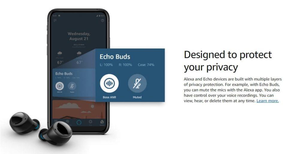 звук Amazon Echo Buds