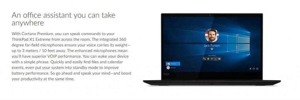 обеспечение Lenovo ThinkPad X1 Extreme (Gen 2)