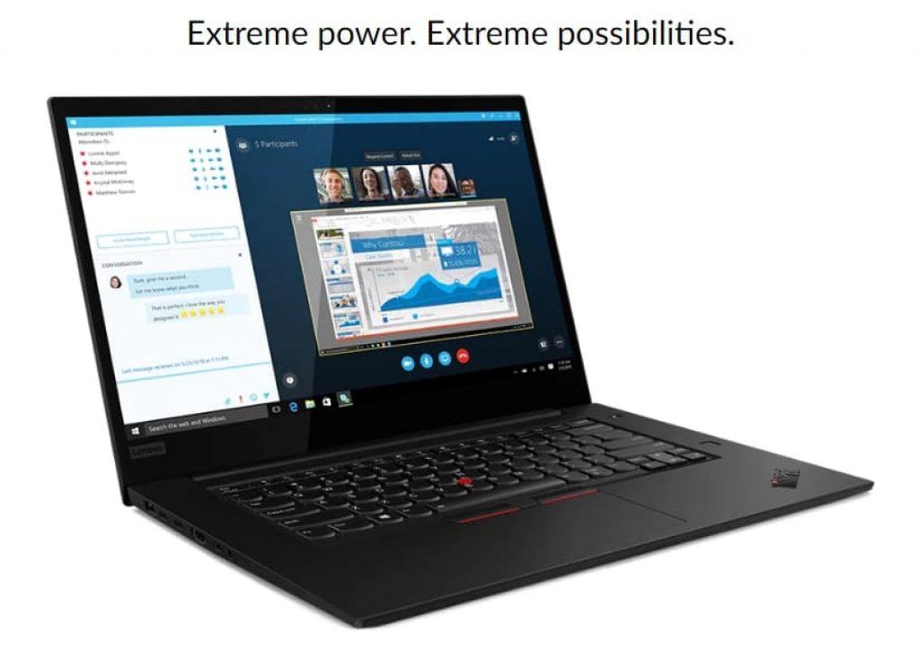 конфигурации Lenovo ThinkPad X1 Extreme (Gen 2)