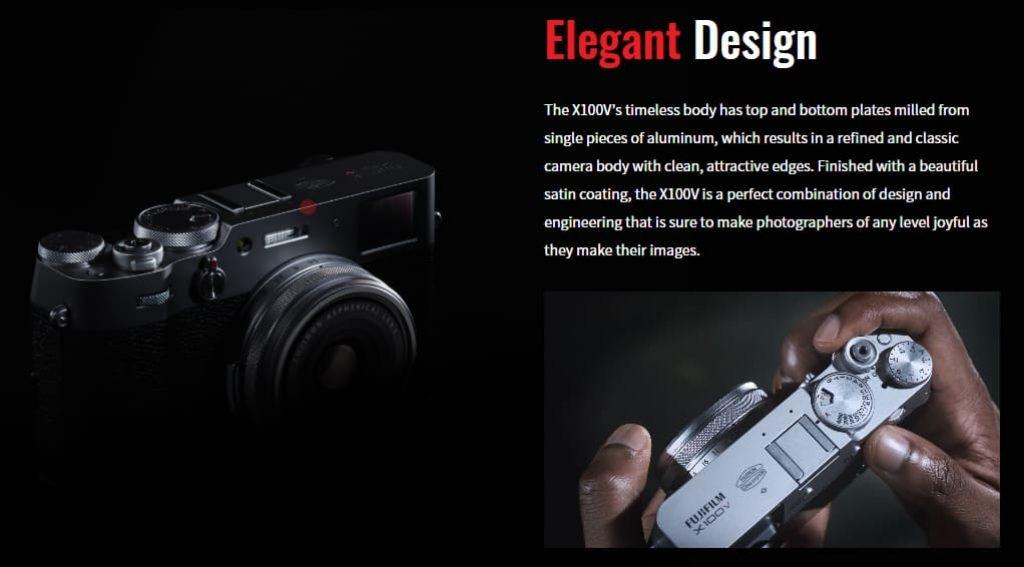 Fujifilm X100V дизайн